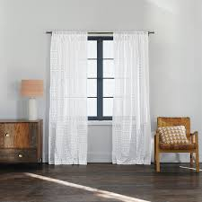 amazon com nate berkus diagonal burnout sheer curtain panel