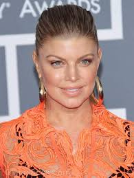 fergie earrings fergie dons see through lace gown at 2012 grammy awards
