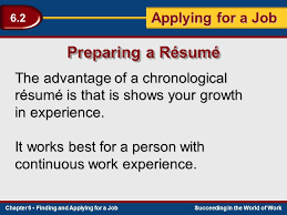 Best Resumes In The World by Section 6 2 Applying For A Job Ppt Video Online Download