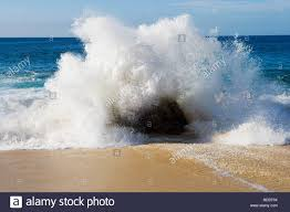 New Mexico beaches images Waves crashing on the beach santa fe new mexico usa stock photo jpg