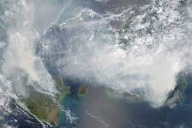 Wildfire From Space by Smoke Blankets Indonesia Image Of The Day