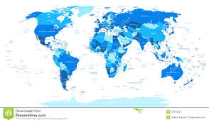 China World Map by Blue World Map Borders Countries And Cities Illustration