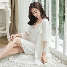 nightgown sleepshirts lace bathrobe sets bridesmaid robes set