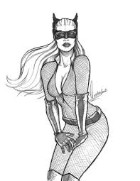 catwoman the dark knight rises sketch by ederlunac on