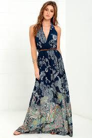 light blue halter maxi dress paisley print dress maxi dress halter dress 79 00