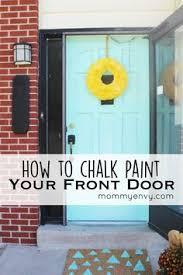 painting your front door the easy way the diy village annie sloan chalk paint and dark wax on interior door diy