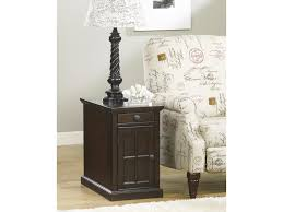 laflorn chair side end table with power outlets u0026 pull out shelf