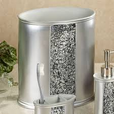brushed nickel bathroom accessories wastebasket best bathroom