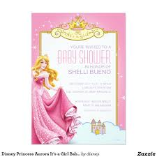 Princess Themed Birthday Invitation Cards Disney Princess Aurora It U0027s A Baby Shower 5