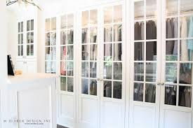 Glass Doors For Closets Glass Front Closet Doors Transitional Closet M E Beck Design