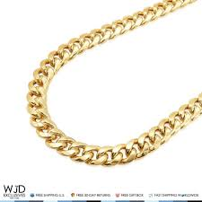 cuban chain necklace gold images 10k yellow gold hollow 10mm miami cuban chain necklace 28 best jpg