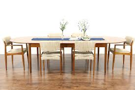 sold midcentury danish modern vintage teak dining table extends