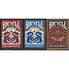 amazon com bicycle dragon back playing cards 3 deck set 1 gold 1