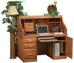 Roll Top Desk Oak 33 Off Rolltop Computer Desk In Oak Solid Wood Amish Furniture