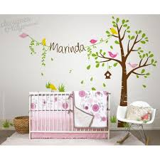 Penelope Bedding Pottery Barn Birdie Tree With Name For Penelope Bedding Wall Decal