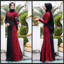 Red And Black Party Dresses The Newest Design Black Red Long Arab Muslim Evening Dresses A
