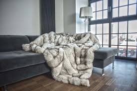 fur throws for sofas balery luxurious real fur throws blankets