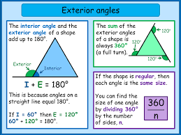 Interior Exterior Angles Exterior Angles Of A Polygon Mnm For Students