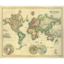 World Map Poster Large Art Print Vintage Retro The World Map Paper Poster Large 50 00