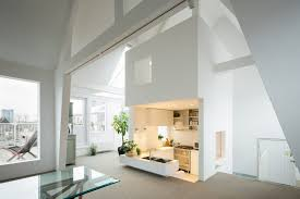 attic kitchen ideas countertops backsplash unique modern attic duplex apartment in