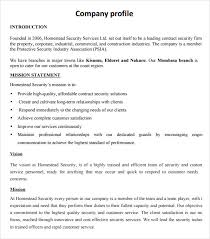 sample company profile sample u2013 7 free documents in pdf word