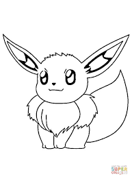 eevee pokemon coloring free printable coloring pages