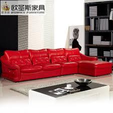 red leather sofa living room latest design new wedding modern sectional corner l shape