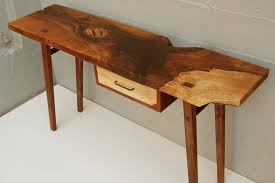 live edge desk with drawers entrance table with drawers