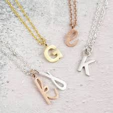 necklace initial pendant images Mixed metal initial pendant necklace jewellery lisa angel jpg