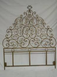 queen size iron headboard foter
