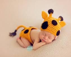 Newborn Baby Halloween Costumes Baby Giraffe Costume Etsy