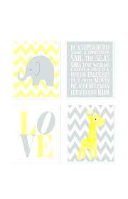 Yellow Nursery Decor Giraffe Nursery Decor Elephant Chevron Prints Gray Yellow Baby