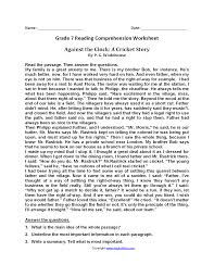 paragraph stories for reading comprehension reading worksheets seventh grade reading worksheets