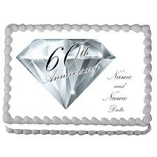 custom edible images 60th anniversary party supplies 60th anniversary custom edible