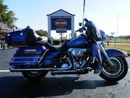 2009 h d ultra classic electra glide two tone black ice blue