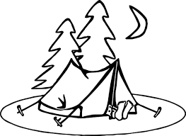 summer night camp coloring wecoloringpage