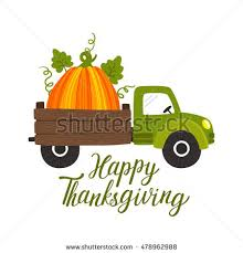 vector thanksgiving background truck car big stock vector 478962988