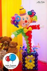 clown baloons clown balloon circus column party decoration by carouselpartyshop