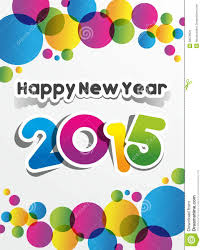 new year greetings card happy new year 2015 greeting card stock vector illustration of