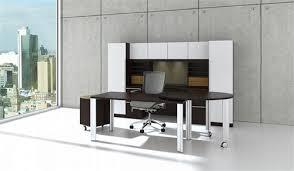 cherryman verde modern white glass executive desk set vl 707n