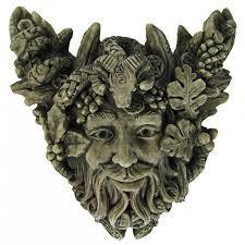 gargoyle home decor forest god cernunnos small wall plaque pagan wiccan horned god