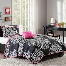 Better Homes And Garden Bathroom Accessories by Better Homes And Gardens Black U0026 White Damask Quilt Set Walmart Com