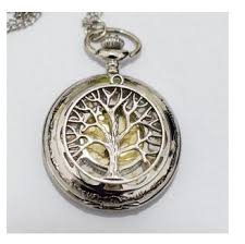pocket watch chain necklace images Charm watch necklace pendant tree of life charm men 39 s pocket watch jpg