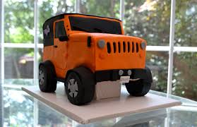 orange jeep wrangler jeep wrangler graduation cake
