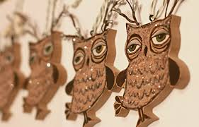 my handmade owl ornaments