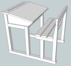 plan de bureau en bois plan bureau d écolier par jft68 sur l air du bois