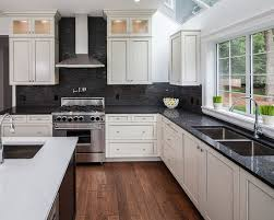 Pictures Of Kitchens With White Cabinets And Black Countertops 25 Best Collection Of Kitchen White Cabinets Black Countertops