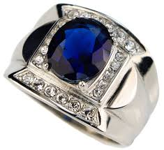 blue rings ebay images Sujak jewelry blue sapphire simulated classy men 39 s ring stainless jpg