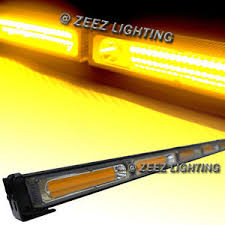 cob led light bar yellow 60w cob led traffic advisor emergency strobe beacon warning