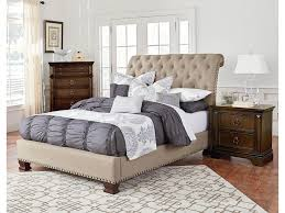 Standard Furniture Charleston Queen Upholstered Bed With Diamond - Charleston bedroom furniture